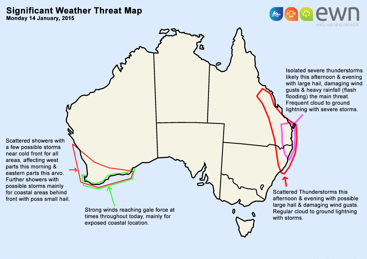 National Significant Weather Threat Map